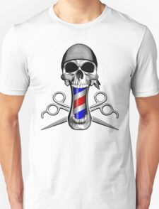 Barber Skull and Scissors T-Shirt
