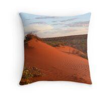 Simpson Desert at Sunset Throw Pillow