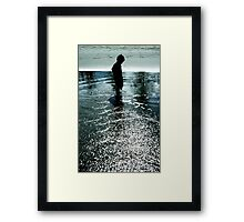 Soaking up the sun.... Framed Print