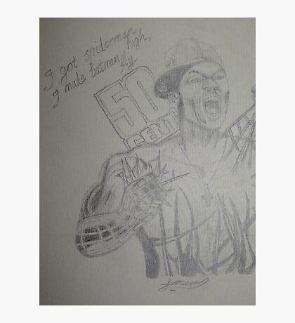 50 Cent - I got Spider man high I made Batman fly Photographic Print