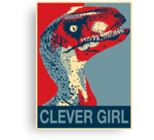 Raptor Propaganda - Clever Girl  Canvas Print