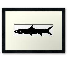 Ladyfish Silhouette (Black) Framed Print