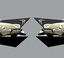 Citroen DS19 Illustrated Mug by RJWautographics