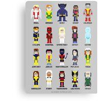 8-Bit Super Heroes 2: The Mutant-ing! Metal Print