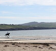rider on ventry beach by mockbird