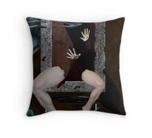 Behind the Scream Throw Pillow