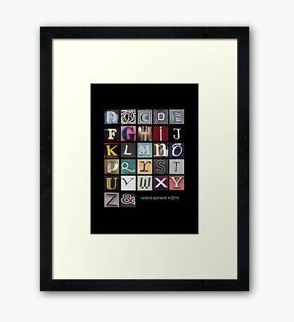 Irish Alphabet Framed Print