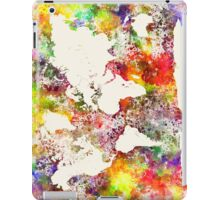 World map in watercolor  iPad Case/Skin