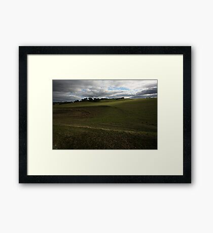 Early winter, Myrniong Framed Print