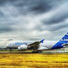 Airbus A380 Landing by Nigel Bangert