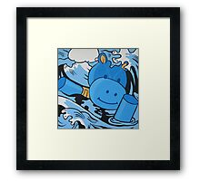 I don't care, I'd rather sink than call Christopher Robin for help! Framed Print