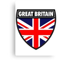 Great Britain Flag and Shield  Canvas Print