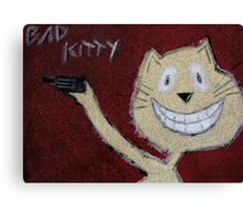 Bad Kitty - Picture Canvas Print