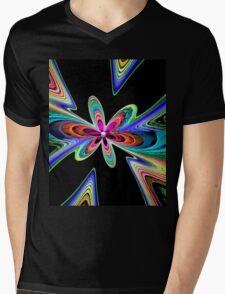 Flowery Happiness Mens V-Neck T-Shirt