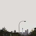 skyline & lamp post by noslegof