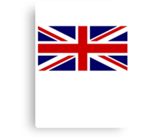 Union Jack, British Flag, UK, United Kingdom, Pure & simple 1:2 Canvas Print