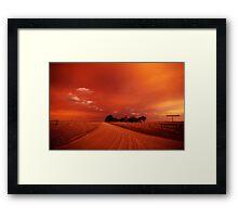 bushfire sky II Framed Print
