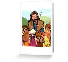 Thorin and Baby Hobbits Greeting Card