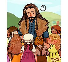 Thorin and Baby Hobbits Photographic Print
