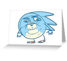 Sanic Greeting Card