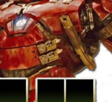 hulk buster armour Sticker