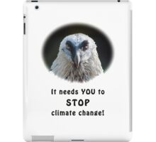 Bearded Vulture against climate change iPad Case/Skin