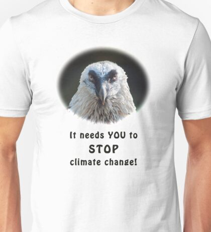 Bearded Vulture against climate change Unisex T-Shirt