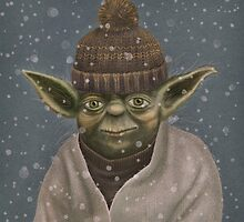 Christmas Yoda by limeart