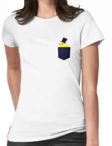 fancy rubber duck in your pocket Womens Fitted T-Shirt