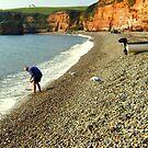 Paddling at Ladram Bay by Charmiene Maxwell-Batten