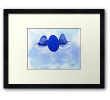 Halo angel egg Framed Print