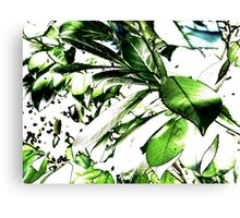 Leaves - Neon Canvas Print