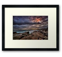 Susan Gilmore Beach at Dusk 1 Framed Print