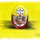 Mama matryoshka egg by Veera Pfaffli