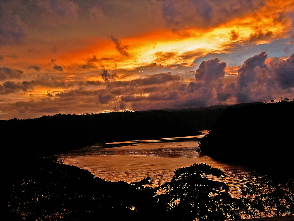 Sunset at Tufi PNG by Grey