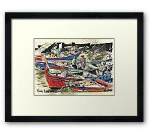 Fishing Boats, Ferragudo, Portugal Framed Print