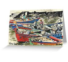 Fishing Boats, Ferragudo, Portugal Greeting Card