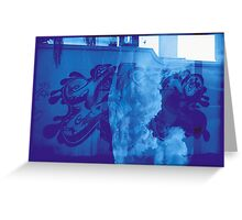 Cloudy Graffiti Greeting Card