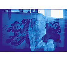 Cloudy Graffiti Photographic Print
