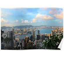 HK Panorama at Sunset - Hong Kong. Poster
