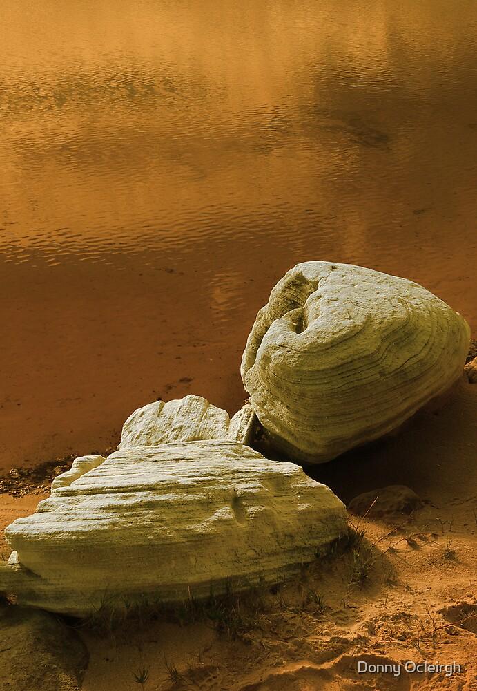 Sandstone rocks by a Pool by Donny Ocleirgh