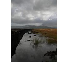 Old waterlogged Irish Bog  Photographic Print