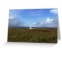 Old Irish coastal cottage, Co Kerry, Ireland Greeting Card
