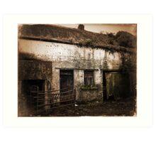 Old Rundown Irish Farm Art Print