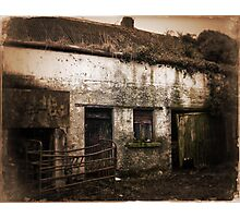 Old Rundown Irish Farm Photographic Print