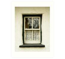 Irish Country Cottage Window Art Print