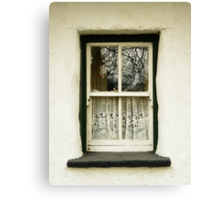 Irish Country Cottage Window Canvas Print