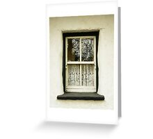 Irish Country Cottage Window Greeting Card
