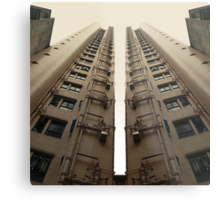 Hong Kong Apartments with sweeping angle Metal Print