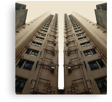 Hong Kong Apartments with sweeping angle Canvas Print